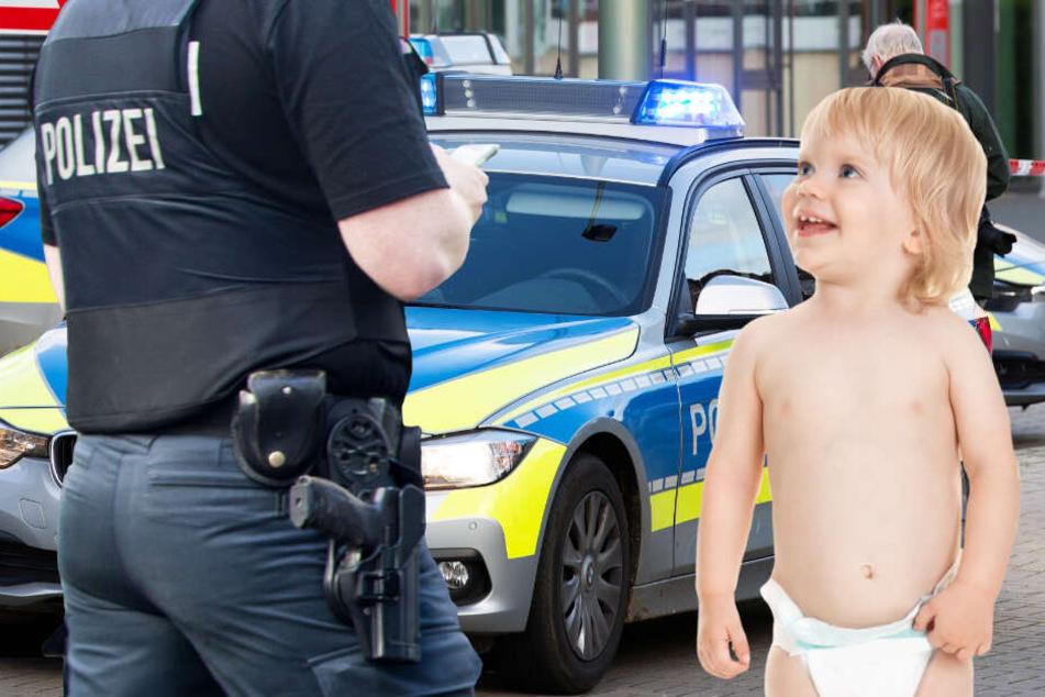 Das Kleinkind war nur mit einer Windel bekleidet (Symbolbild).