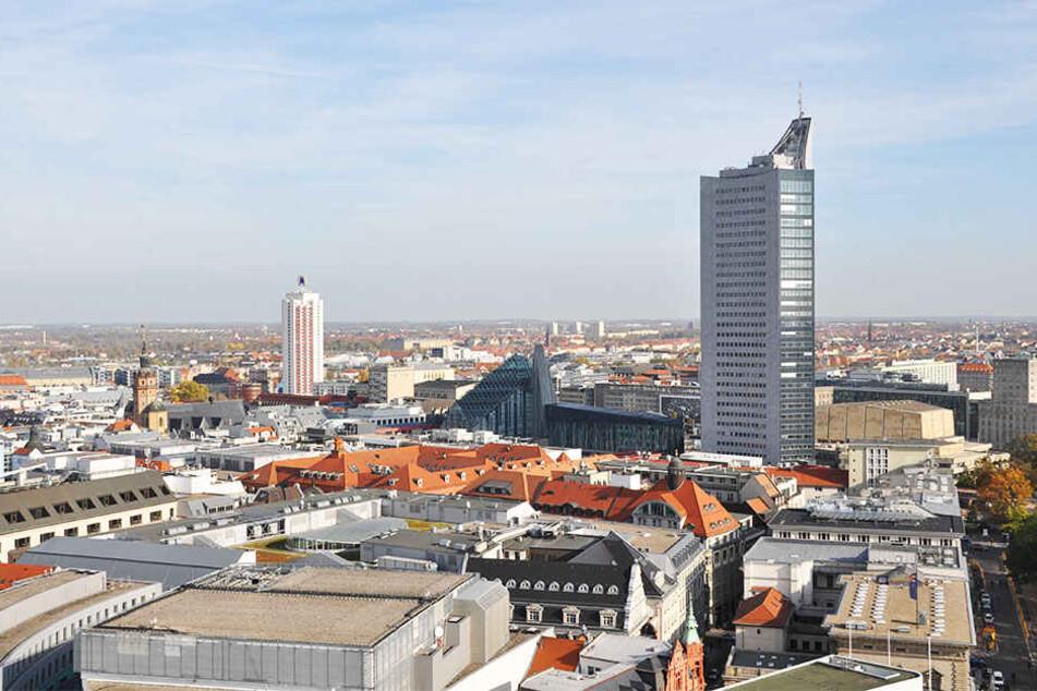 """Bisher ist die """"Skyline von Leipzig"""" überschaubar."""