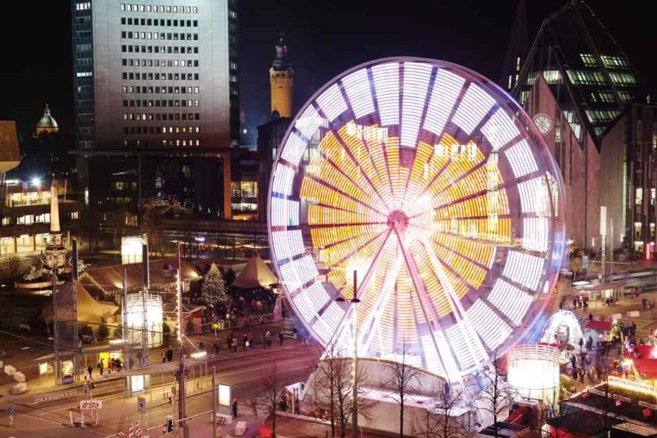 Der diesjähriger Leipziger Weihnachtsmarkt geht am Sonntag zu Ende.