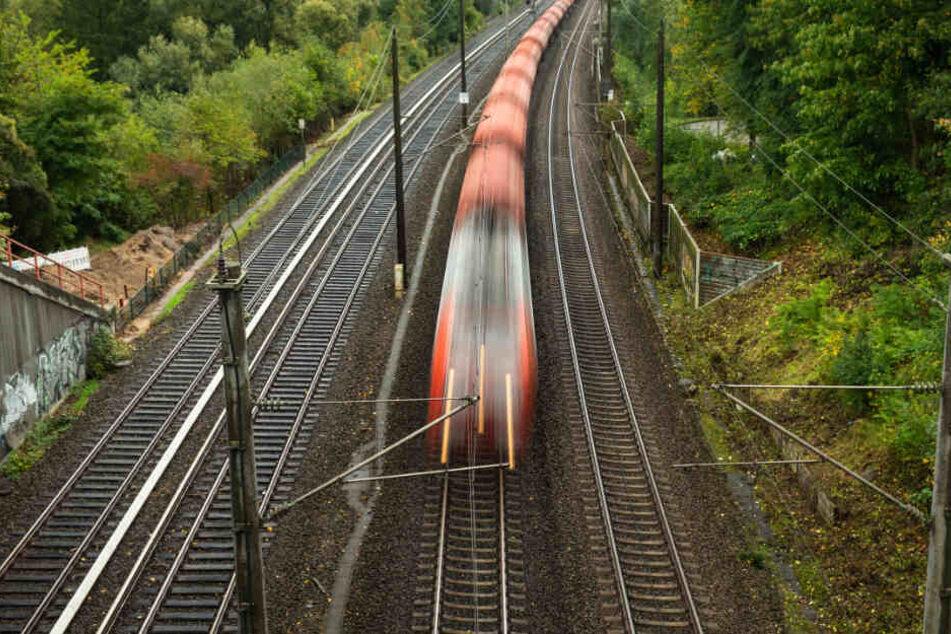 Ein Zug fährt auf einer Bahnstrecke. (Symbolbild)