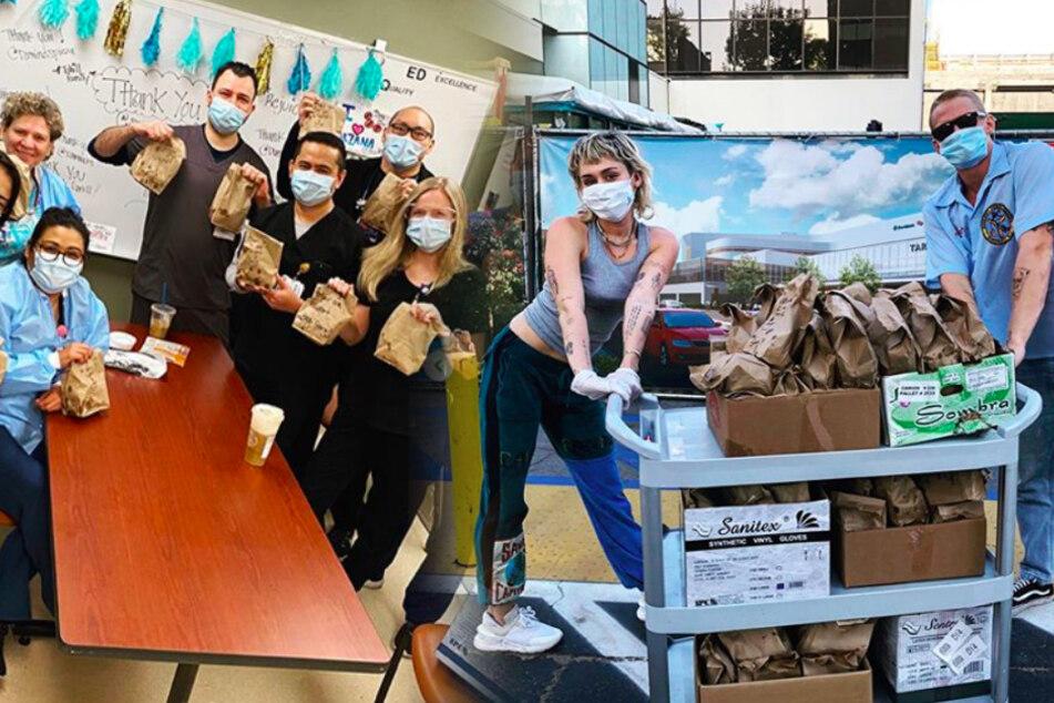 Welcher Star überrascht hier Krankenschwestern während der Corona-Krise?