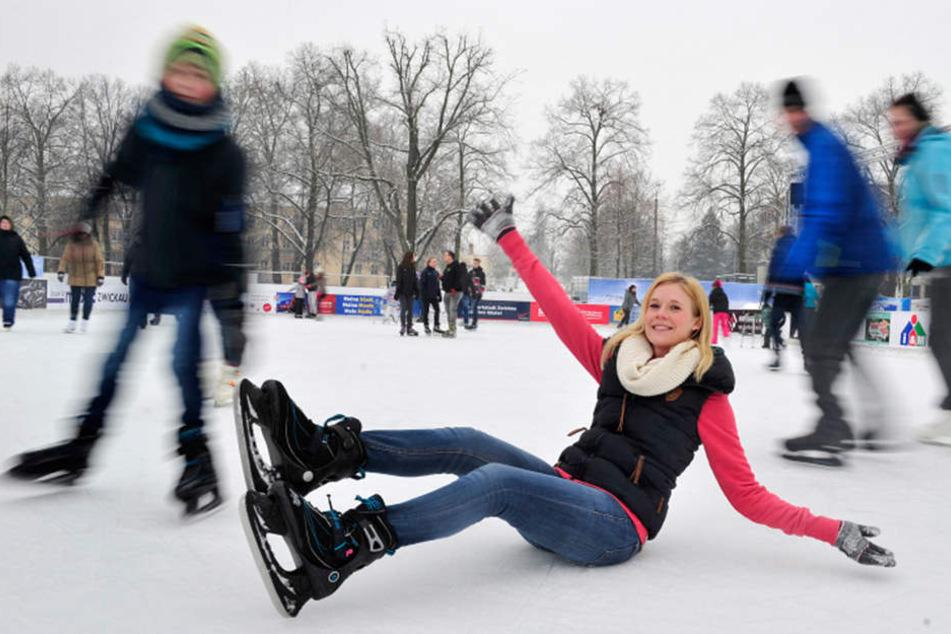 Geschlittert wird in diesem Jahr woanders, aber nicht in Zwickau: Diese  Saison pausiert die Eisbahn.
