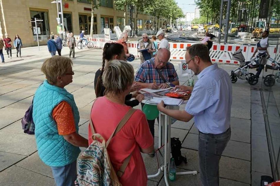 """Mit zirka 1.400 Unterschriften geht am Freitag die Petition """"Ja zur Wiedererrichtung des Chemnitzer Bärenbrunnens"""" zu Ende."""