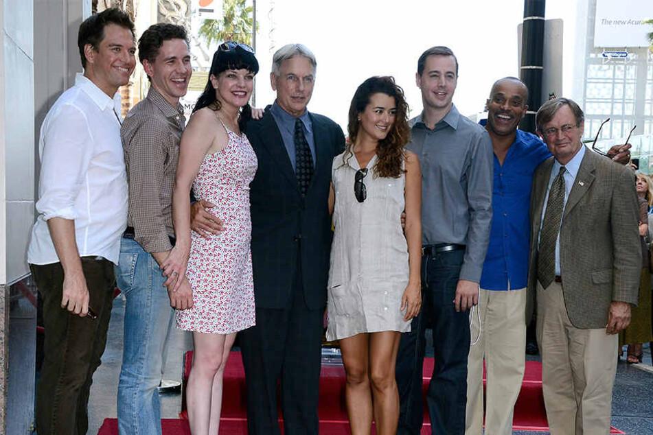 "Die ""NCIS""-Crew: Michael Weatherly, Brian Dietzen, Pauley Perrette, Mark Harmon, Coté de Pablo, Sean Murray, Rocky Carroll und David McCallum."