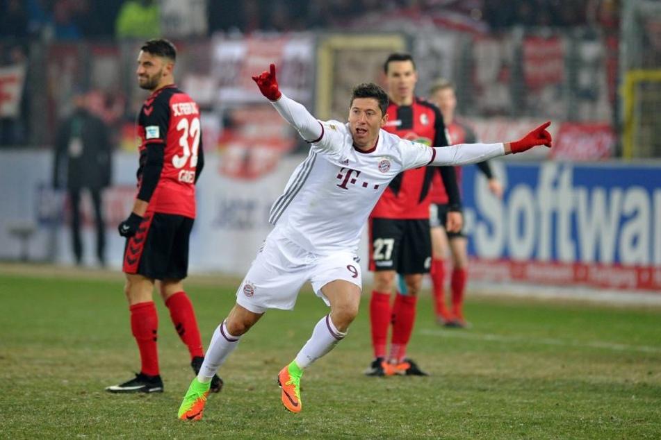 Da hat Robert Lewandowski allen Grund zum Jubel: Geht man nach den Wissenschaftlern der Uni Münster, ist Bayern so gut wie Meister.