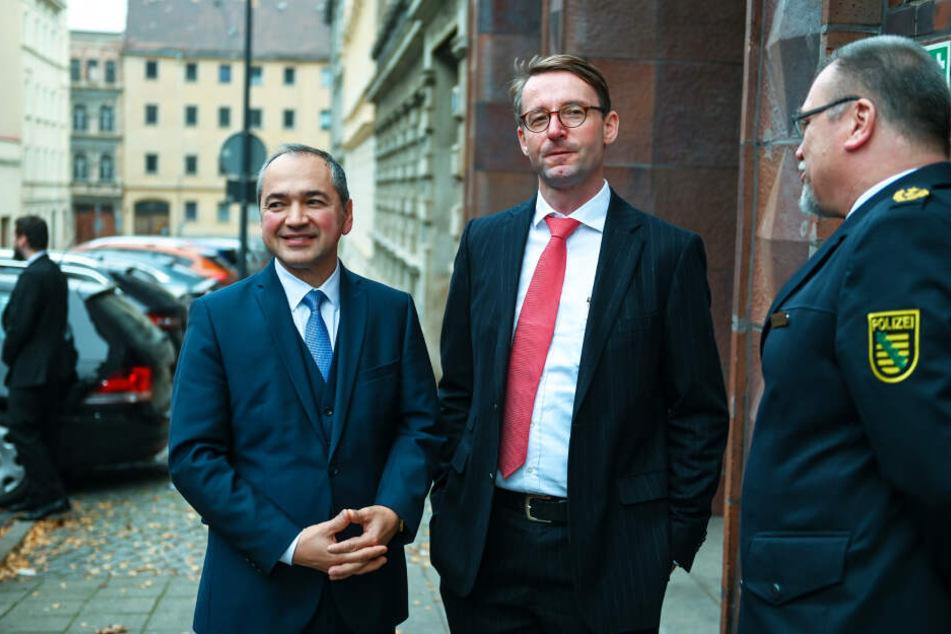 Der Görlitzer Oberbürgermeister Octavian Ursu (52, CDU, l.) und Innenminister Roland Wöller (49, CDU) hoffen, dass die Neißestadt jetzt sicherer wird.