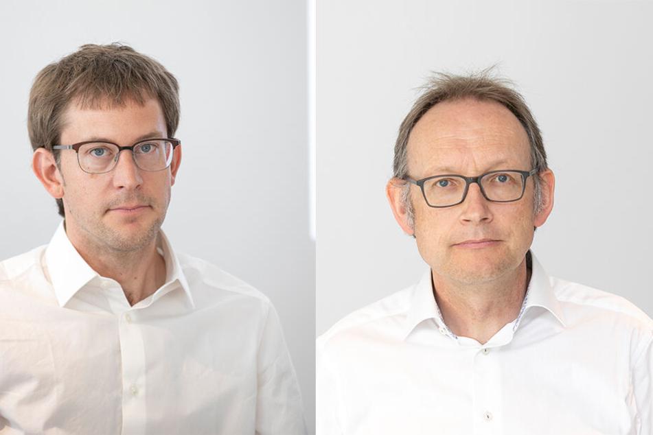Städtebauer Christian Blum (42) aus Zürich (links) und Architekturhistoriker Christoph Schläppi (54) aus Bern (rechts)