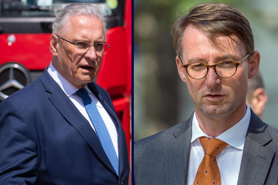 Die Innenminister von Bayern und Sachsen, Joachim Herrmann (CSU) und Roland Wöller (CDU) wollen am Donnerstag einen Kooperationsvertrag unterschreiben.