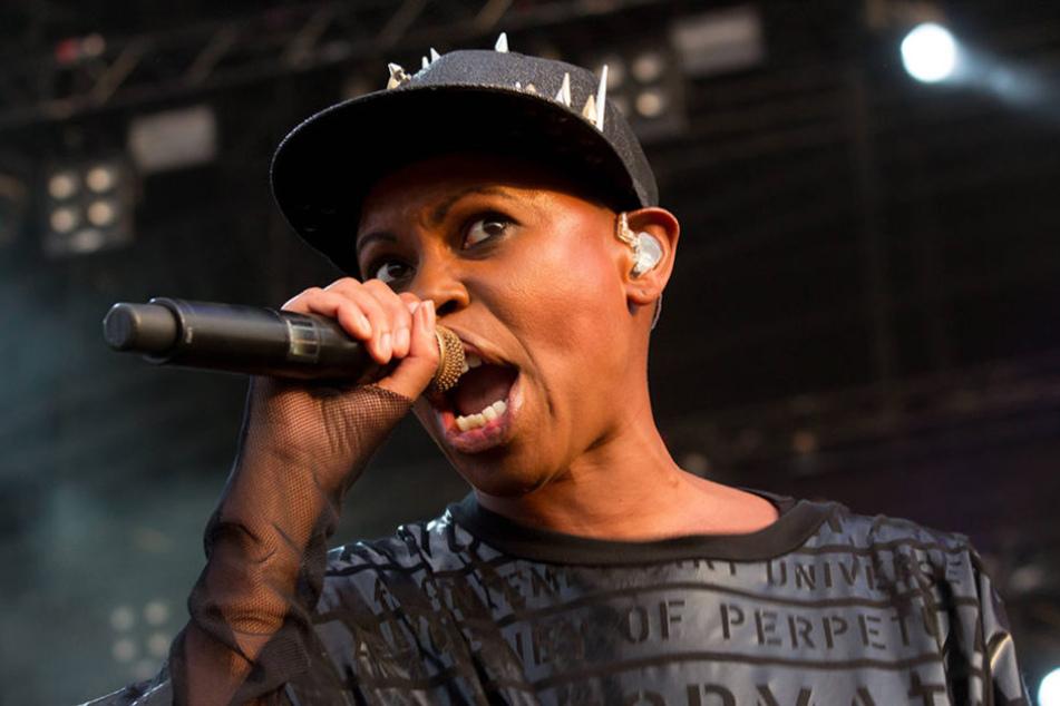 Sängerin Skin, die mit ihrer Band Skunk Anansie 2016 auf dem Highfield auftrat.