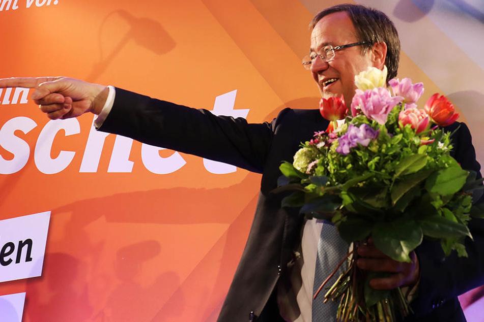 So sehen Sieger aus: CDU-Politiker Armin Laschet hat die Wahl in NRW gewonnen.