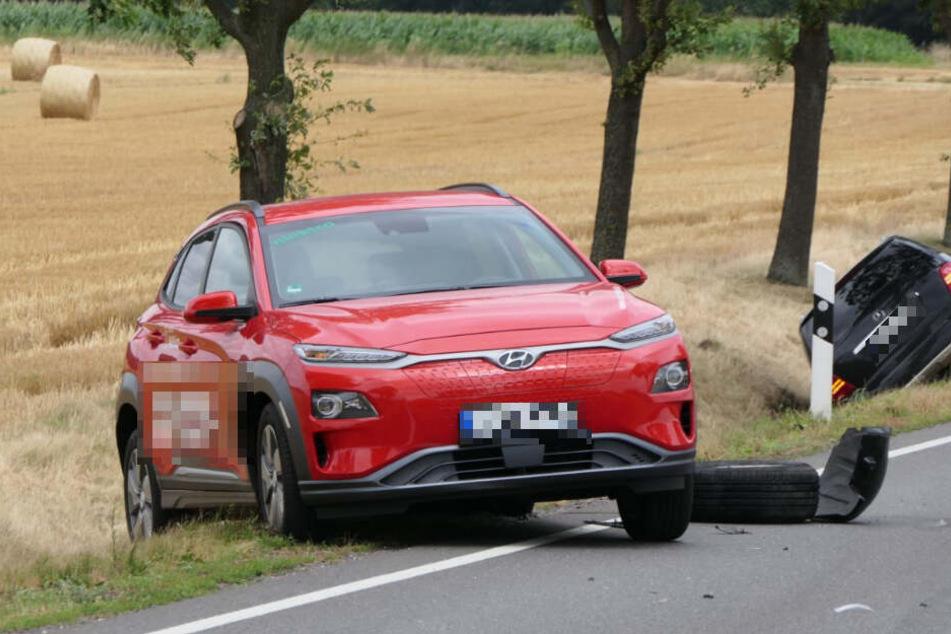 Gegen diesen Hyundai ist der Unfallverursacher auch gestoßen.