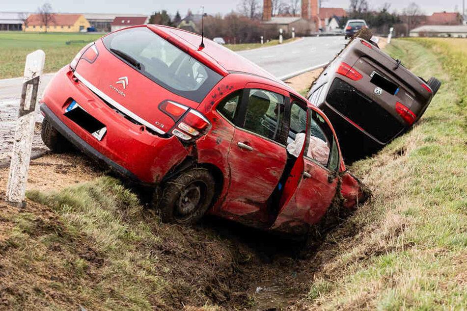 Ein Citroen und ein VW waren in den Unfall verwickelt.