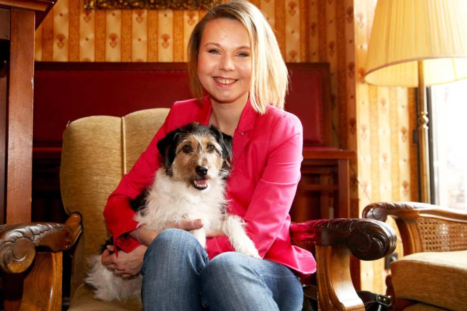 Agnieszka Pietrukiewicz mit Mischling Milou: Die Transplantation hat sie  bestens überstanden.