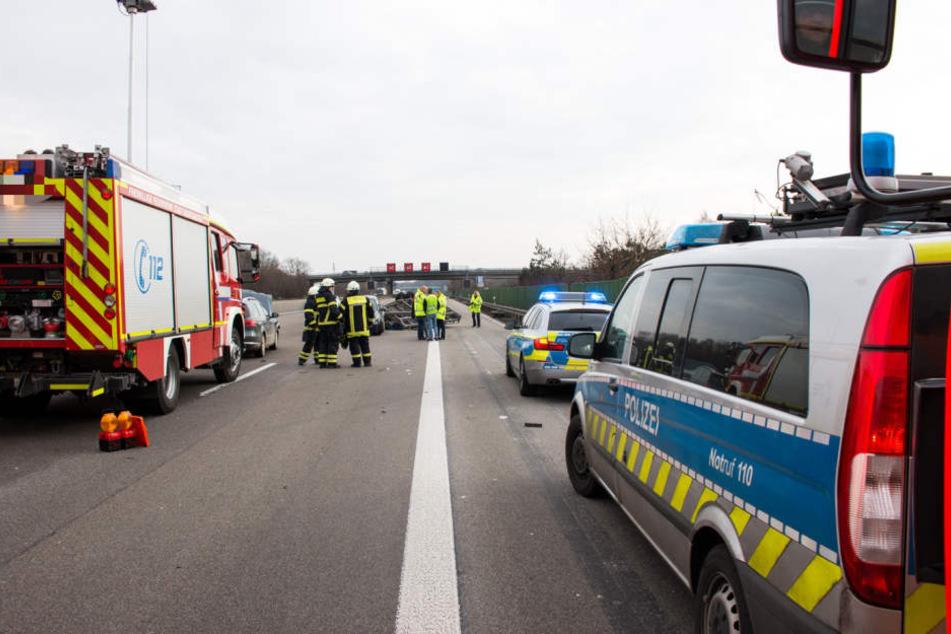 Insgesamt vier PKW waren in den Unfall auf der A3 verwickelt. Verletzt wurde niemand.