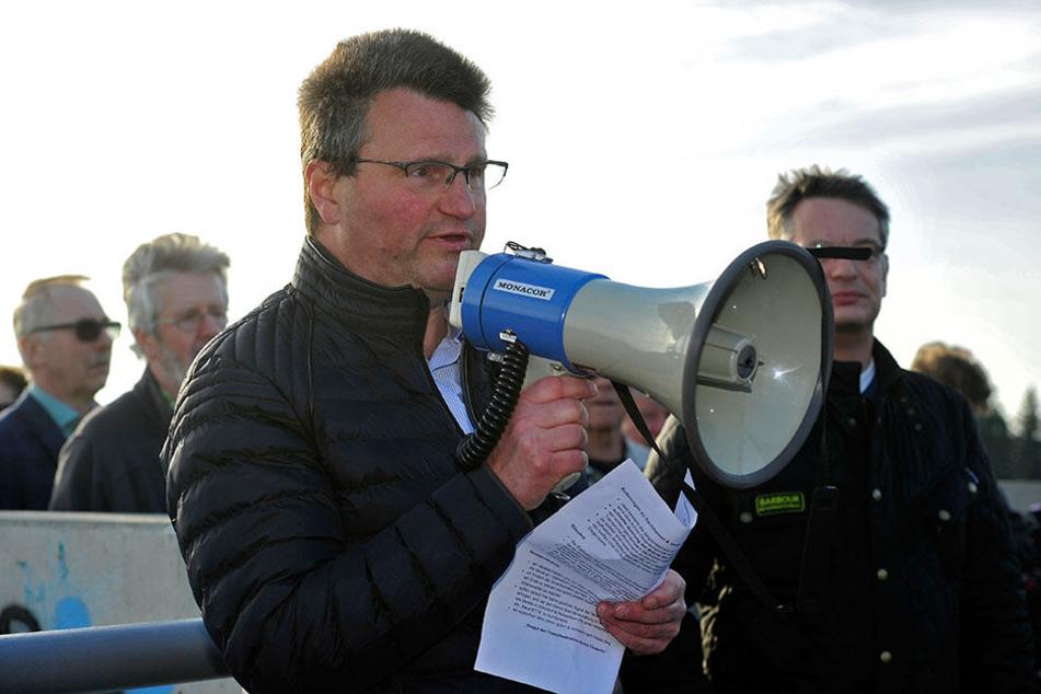 """Jürgen Mädler (53) ist einer der Initiatoren der """"Bürgerinitiative (BI) Lärmschutz B174""""."""