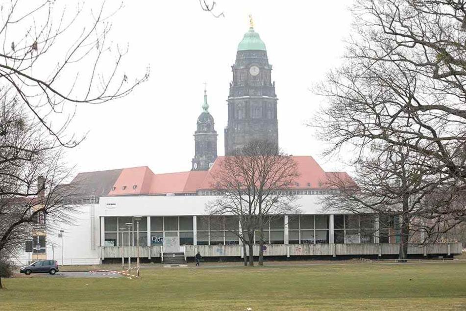 Als neuer Standort des Kunsthauses soll die Robotron-Kantine ein Ort für Gegenwartskunst werden.