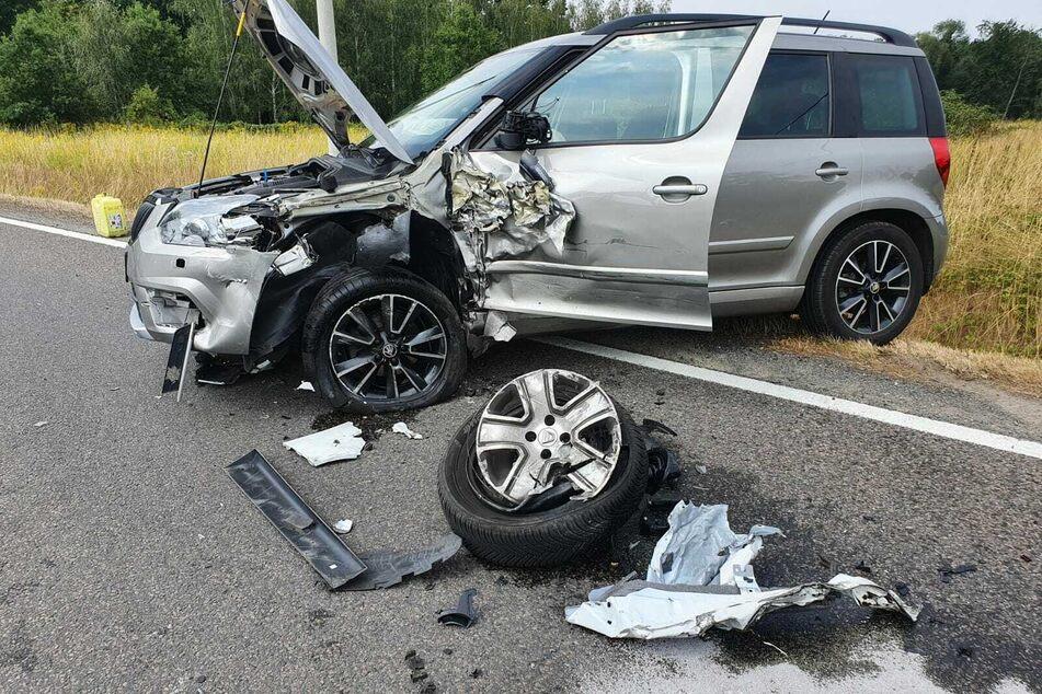 In Machern kam es zu einem Autounfall - ein Wagen war auf die Gegenfahrbahn geraten.
