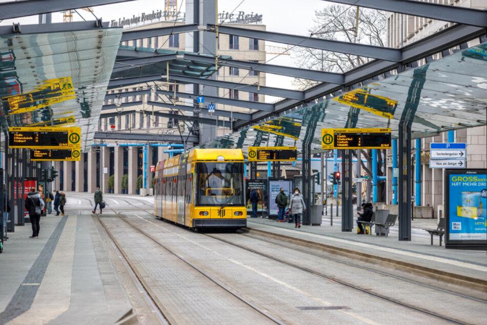 Auch der zweite Lockdown trifft die DVB heftig. Aktuell fahren 50 bis 60 Prozent weniger Leute Bus und Bahn.