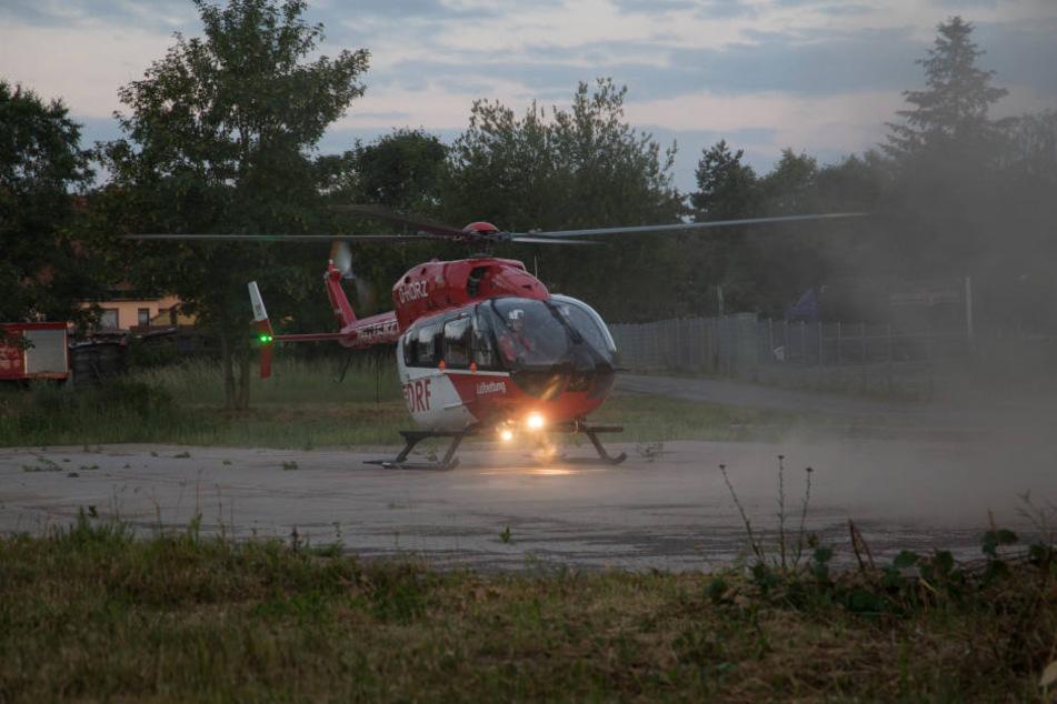 Der Rettungshubschrauber musste den Junge in ein Krankenhaus bringen.