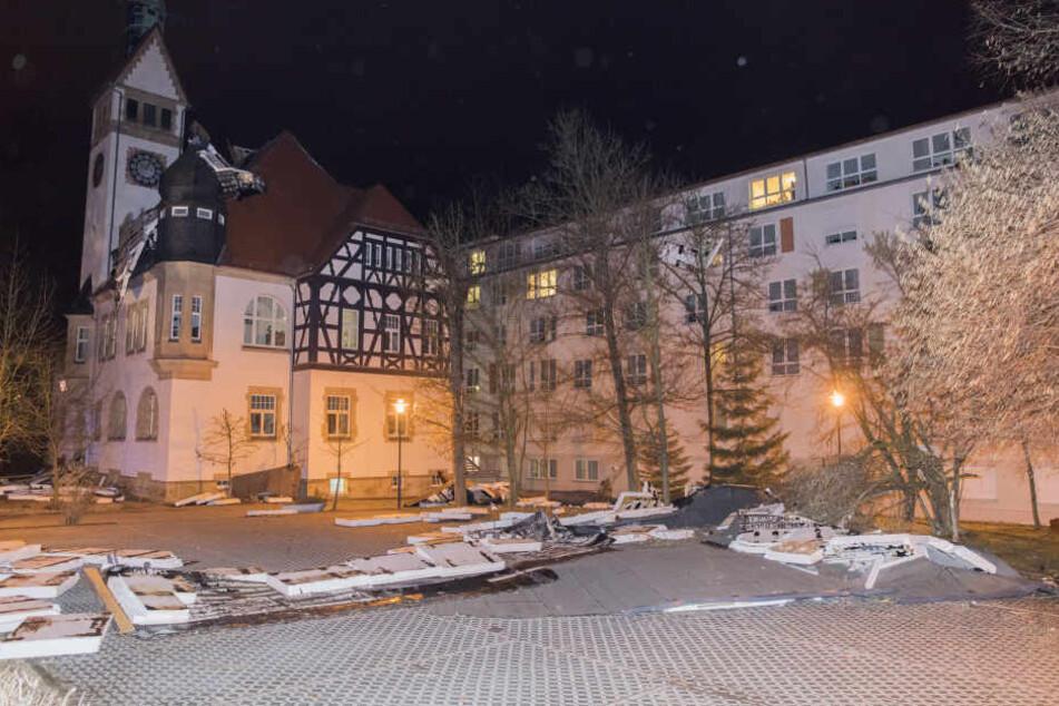 Das Pflegeheim in Siegmar wurde abgedeckt.