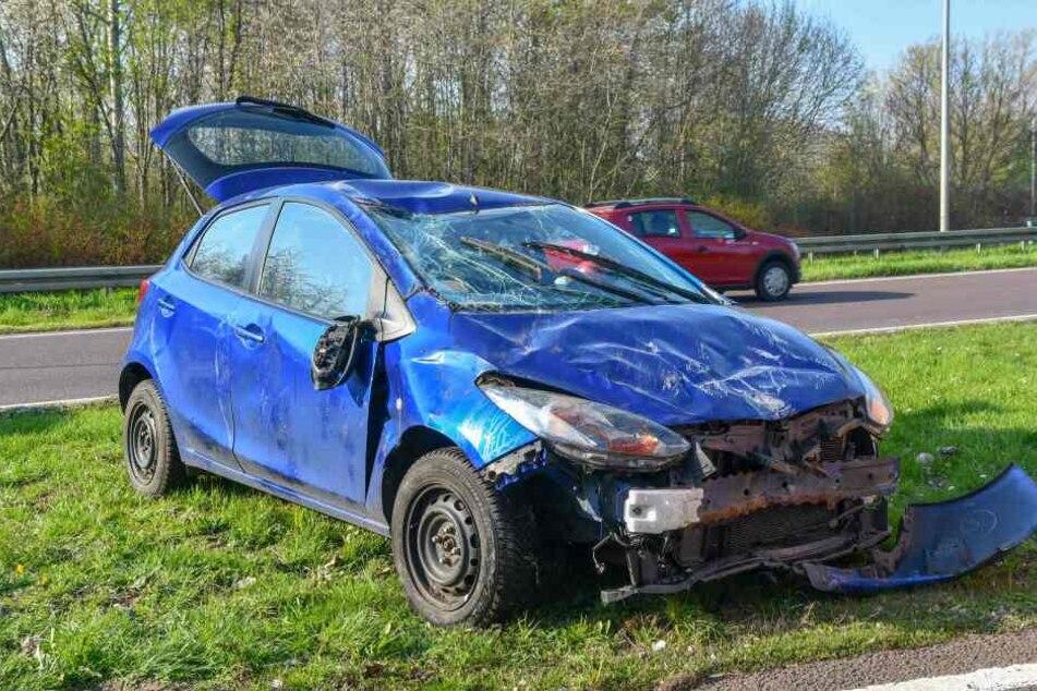 Mit diesem Auto überschlug sich die Mutter mit ihrem Kind in Magdeburg.