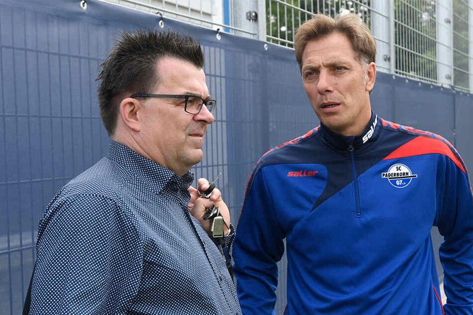 Viel Redebedarf: Martin Hornberger (li.) und René Müller sind auf der Suche nach einem neuen Co-Trainer.