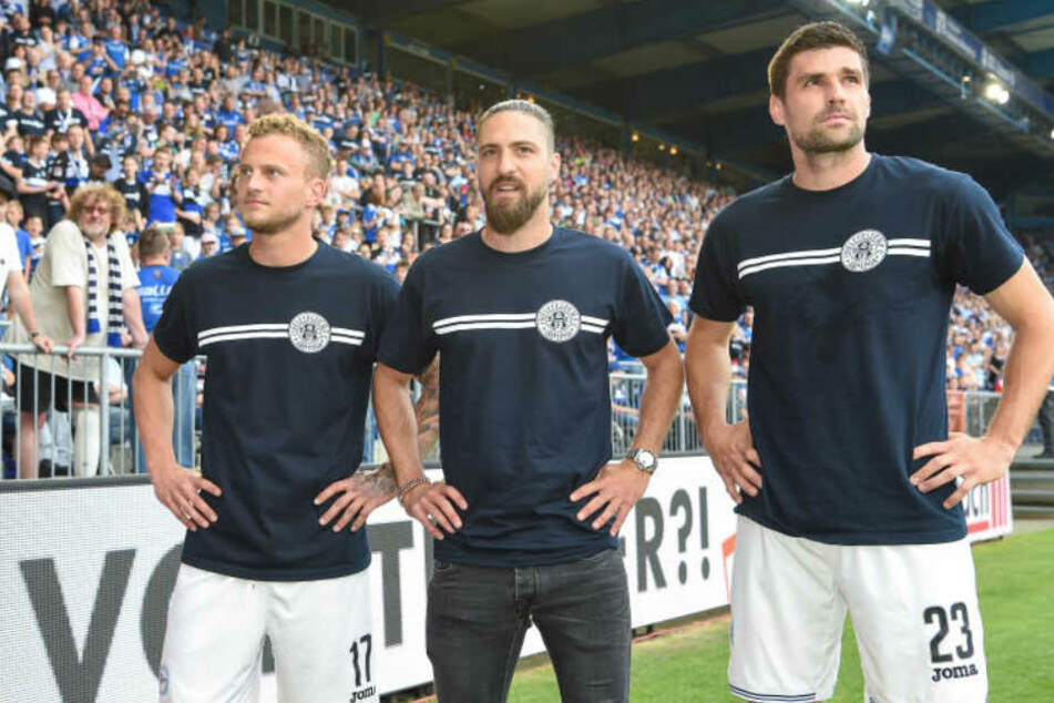 Florian Dick (rechts) blickt positiv in die Zukunft. Neben ihm mussten auch Christoph Hemlein (links) und David Ulm (Mitte) den DSC verlassen.