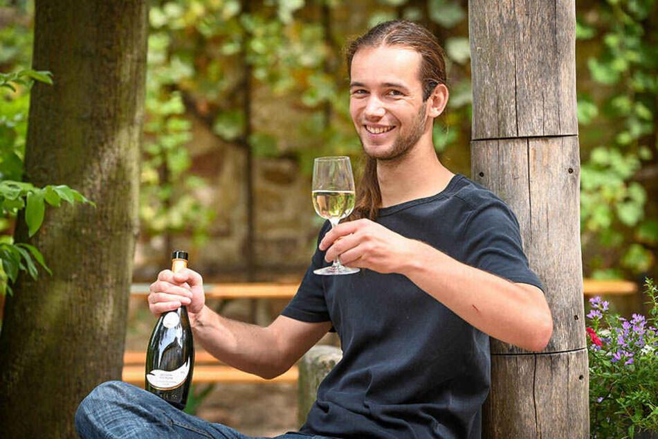 Dem Merbitzer Weinbau auf der Spur: Dominik Wirkus (24) leitet das neue Wein-Museum in der Zschoner Mühle.