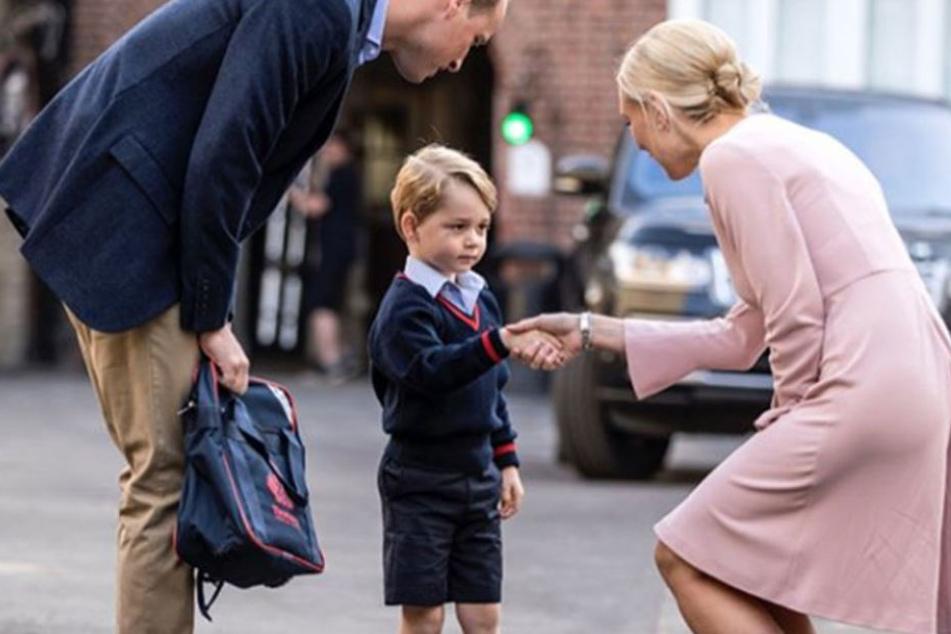 Wie süß: Hier beginnt für kleinen Prinz Georg der Ernst des Lebens