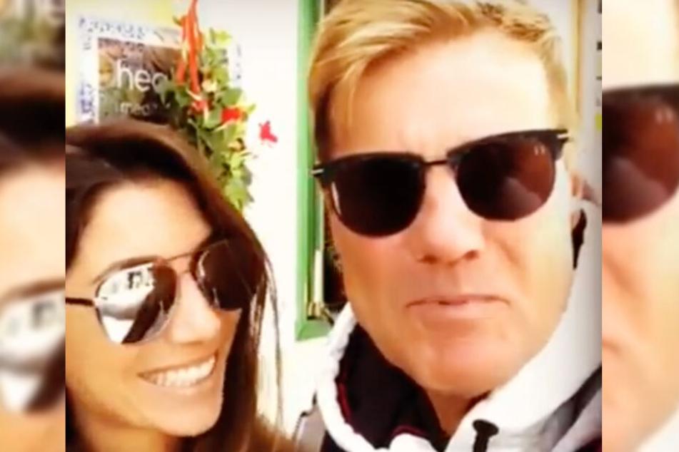 Dieter Bohlen und Freundin Carina können über den Urlaub bisher nur schmunzeln.