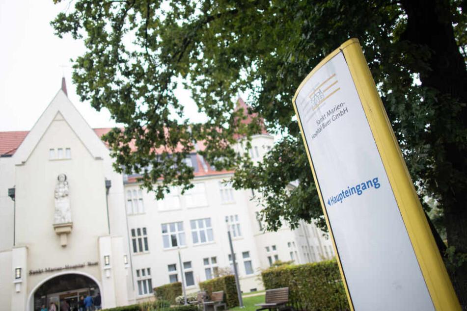 Das betroffene Krankenhaus in Gelsenkirchen.