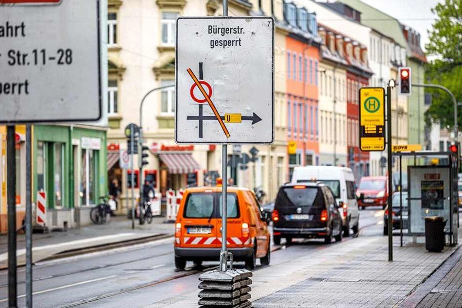 Im Mai wird die Bürgerstraße gesperrt: Linie 13 betroffen