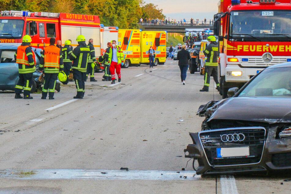 Der Unfall ereignete sich am Samstagabend gegen 19 Uhr auf der A6 bei Viernheim.