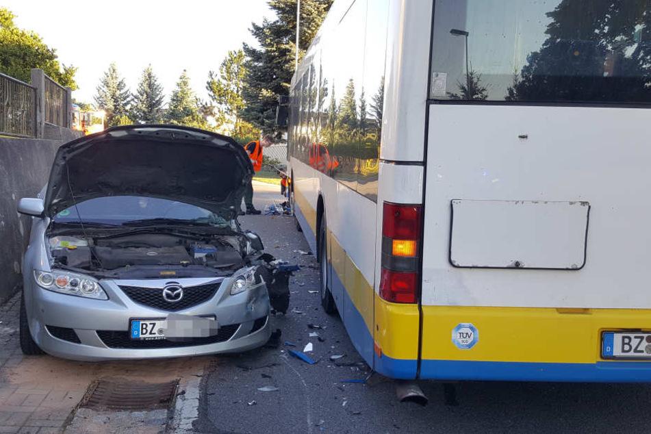Der Unfall geschah gegen 6.53 Uhr in Bautzen.
