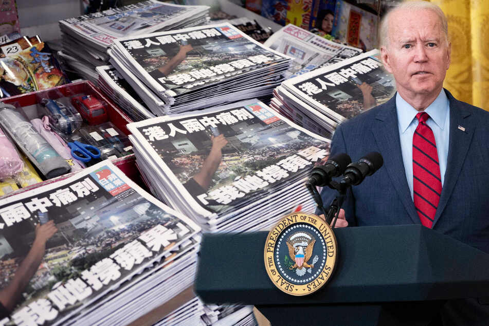 Biden slams Beijing for repression after Hong Kong newspaper closes