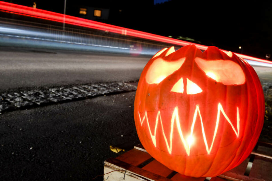 Gehören zu Halloween dazu: Kürbisse, wie dieser hier nahe Tettnang. (Archivbild)