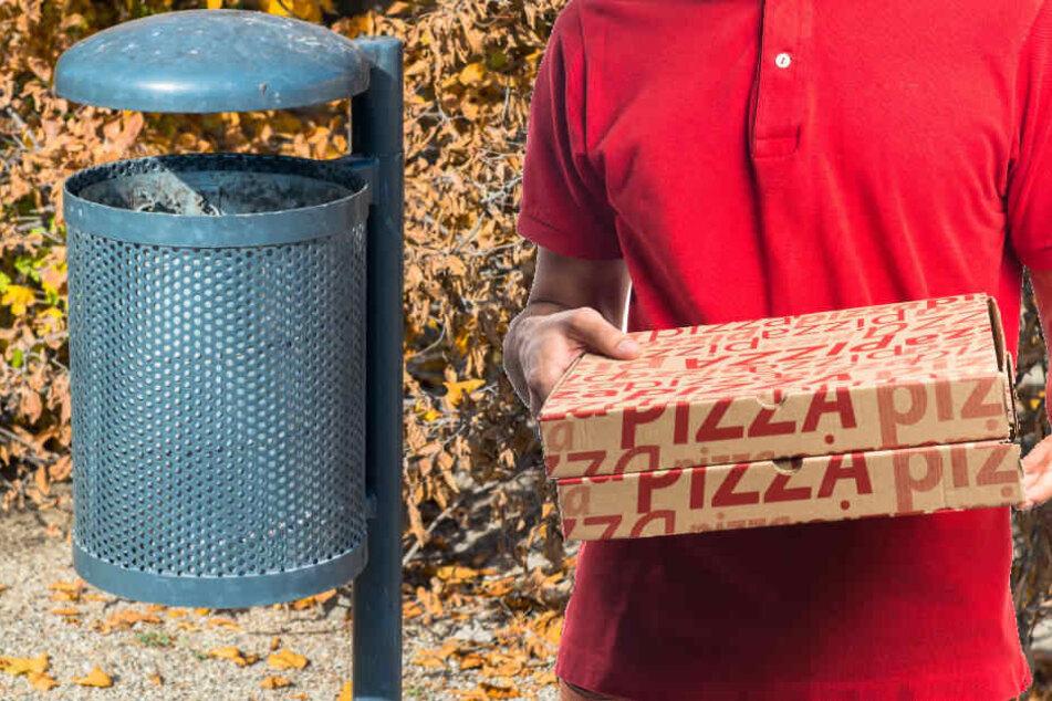 Strafe für leeren Pizzakarton im Mülleimer