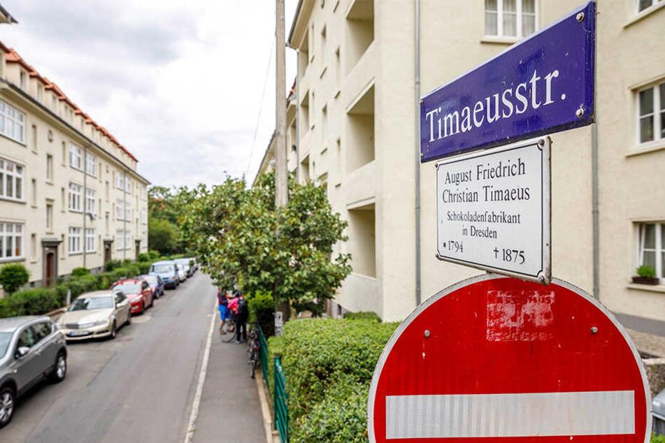Die Timaeusstraße in der Äußeren Neustadt.