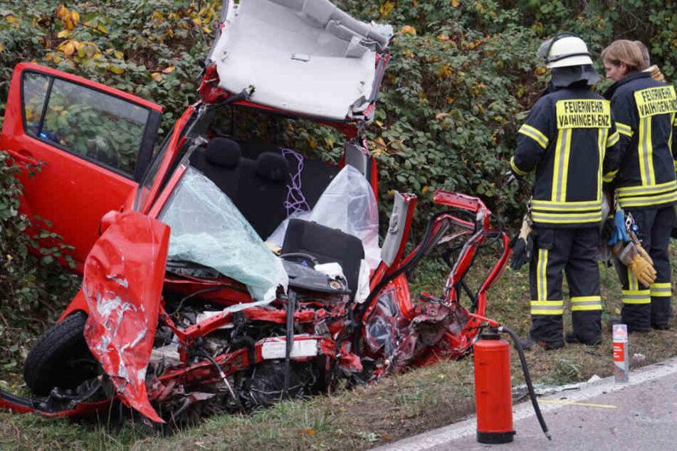 Die 48-Jährige verstarb noch an der Unfallstelle.