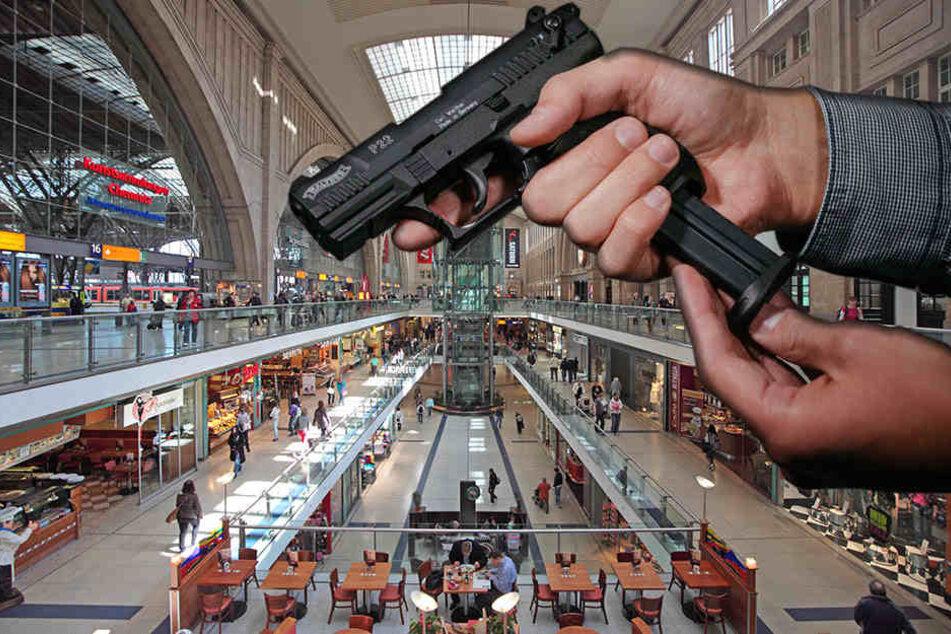 Der 21-Jährige Waffenträger wurde im Leipziger Hauptbahnhof festgenommen.
