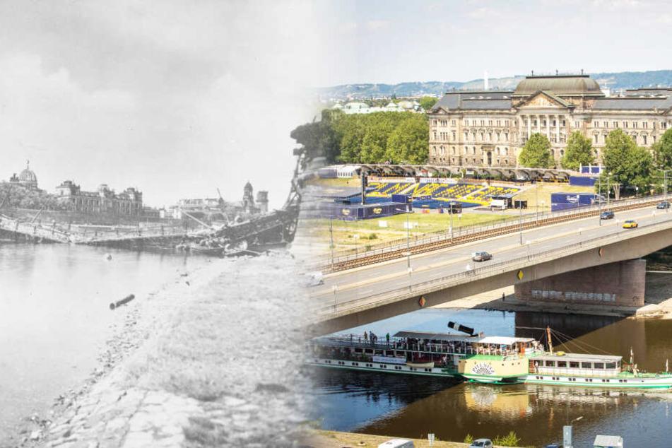 Von der Brücke blieb damals gar nichts übrig. Heute steht sie wieder, als wäre nie etwas gewesen.