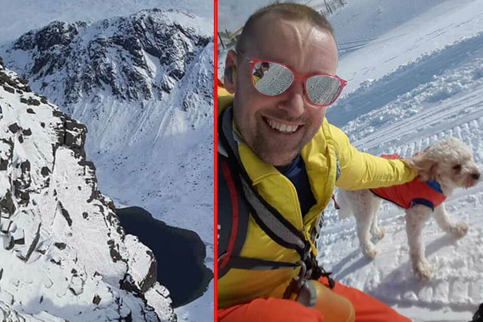 Der Schotte war mit Hund Ben in den verschneiten Bergen unterwegs, als der Vierbeiner wegrannte.
