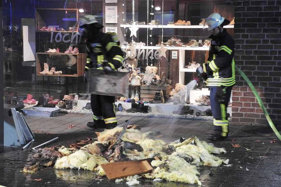 70 Einsatzkräfte kümmerten sich um den Brand.