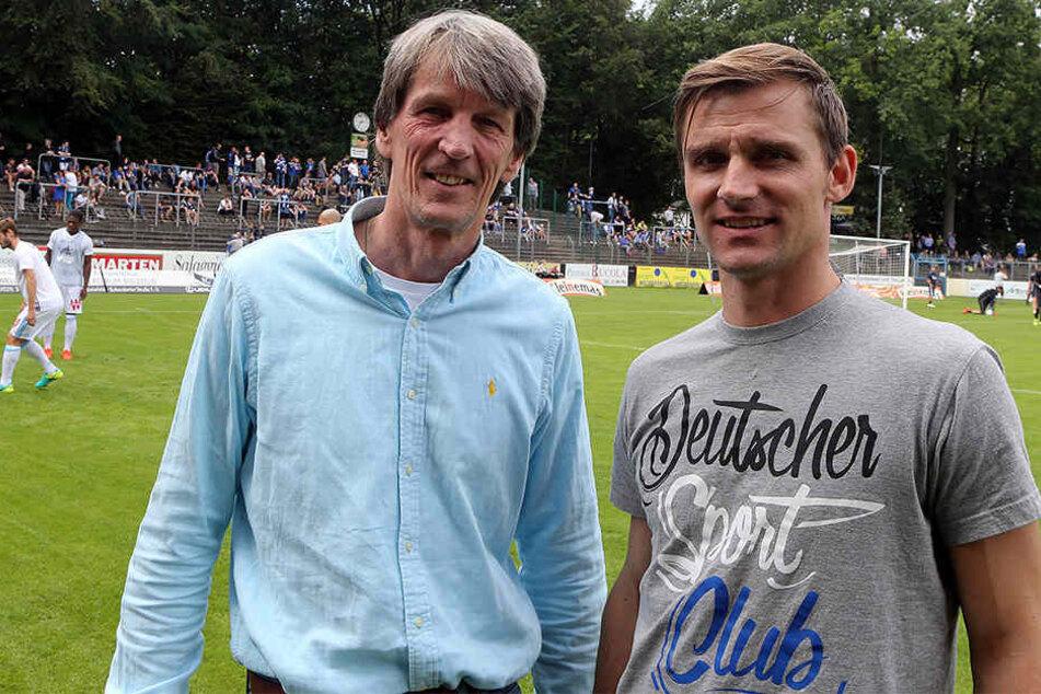 Andre Niermann (li.) will als Vorsitzender des FCG um das Überleben des Vereins kämpfen.