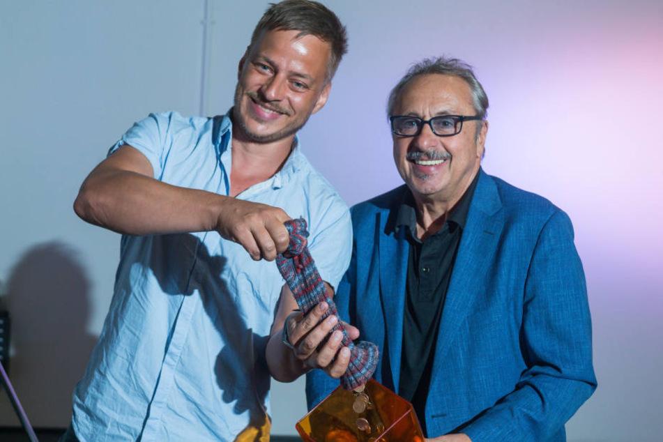 Sammeln nun Geld für dasTJG: Star-SchauspielerWolfgang Stumph (70) und Tom Wlaschiha (43).