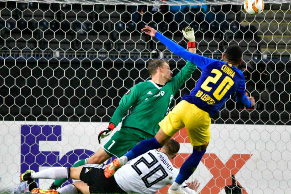 Die Entscheidung in Trondheim fiel in der 61. Minute durch das 3:0 von Matheus Cunha (r.). Am Ende reiste der Tross mit einem verdienten Dreier zurück nach Leipzig.