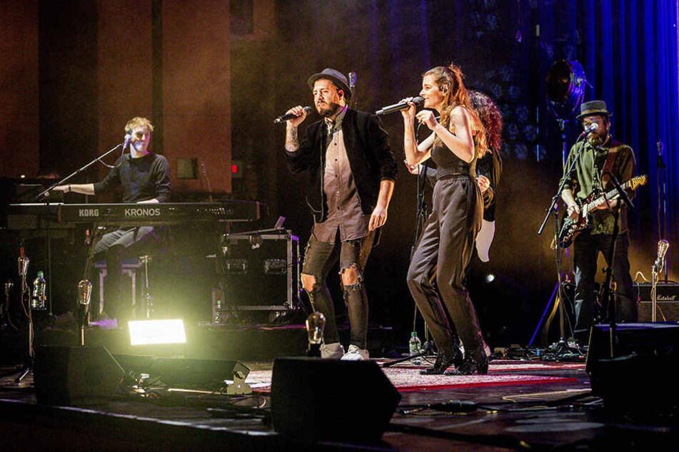 Mit Yvonne Catterfeld stand Alessio während ihrer Tour auf der Bühne.
