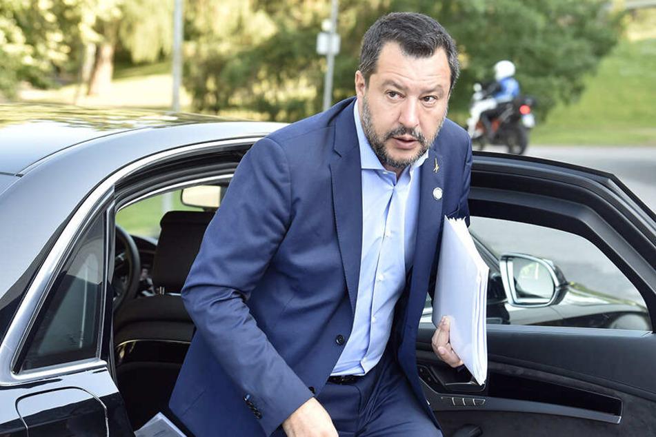 Matteo Salvini, Innenminister von Italien, trifft am 18. Juli 2019 zum informellen Treffen der EU-Innenminister im finnischen Helsinki ein.