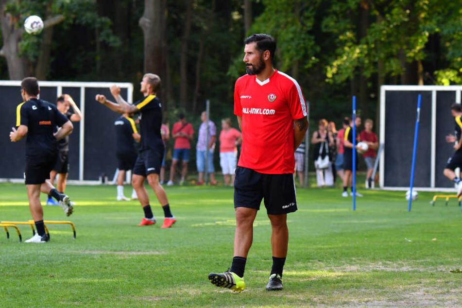 Am Donnerstag leitete Fiel das erste Training des Profi-Teams von Dynamo.