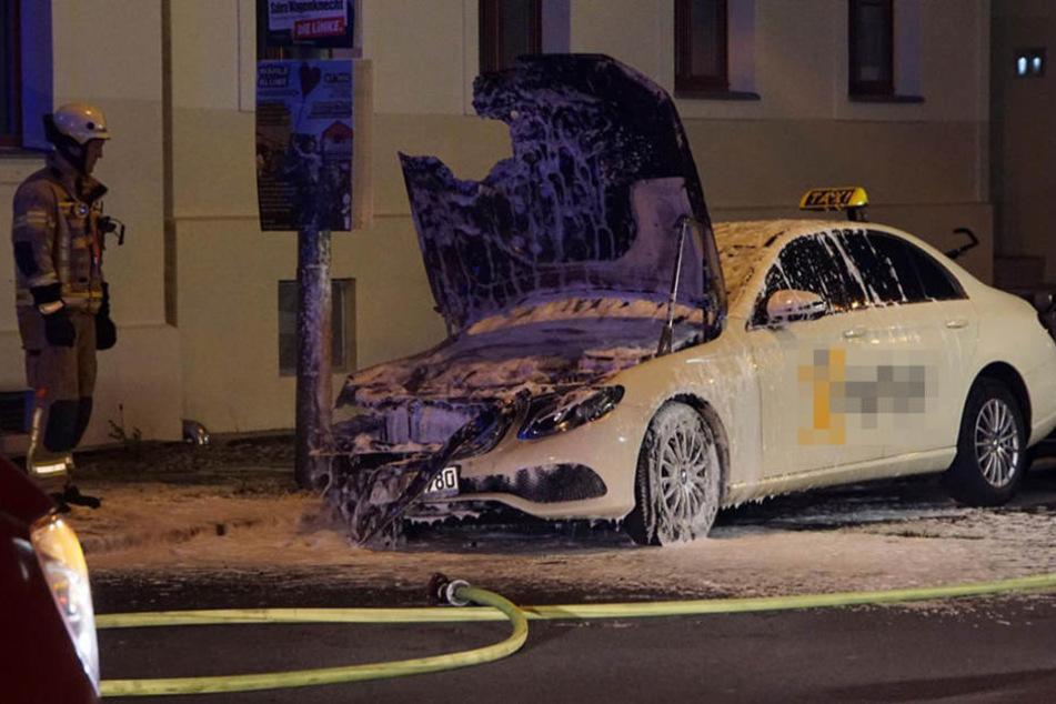Durch ein schnelles Eintreffen der Feuerwehr, konnte die Flammen schnell gelöscht werden.